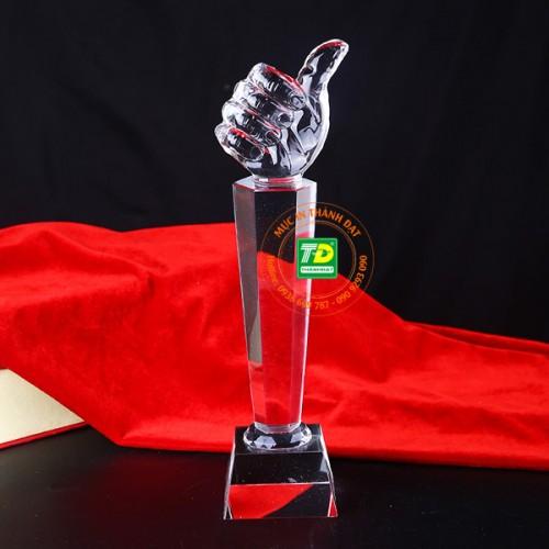 Cúp Vinh Danh Pha Lê Bàn Tay Biểu Tượng The Best TD-350