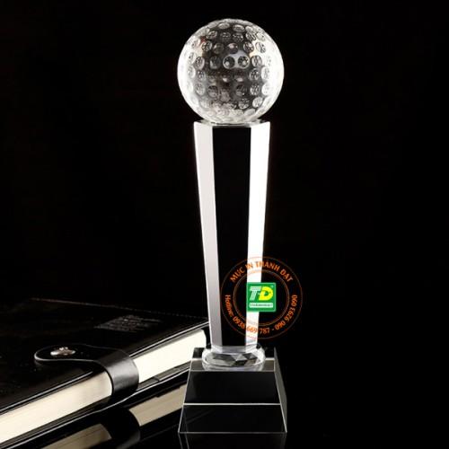 Cúp Golf Pha Lê - Cúp Vinh Danh Pha Lê Hình Quả Bóng Golf