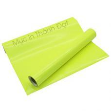 Decal In Chuyển Nhiệt PVC Màu Xanh Lá Neon