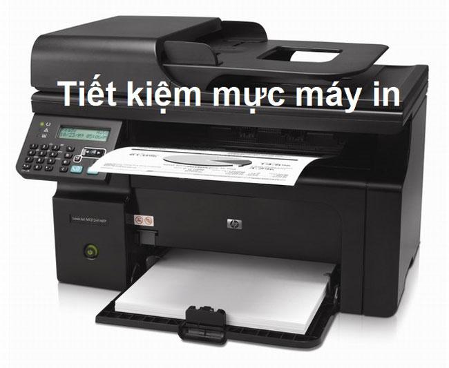 Hướng dẫn tự cấu hình tiết kiệm mực máy in