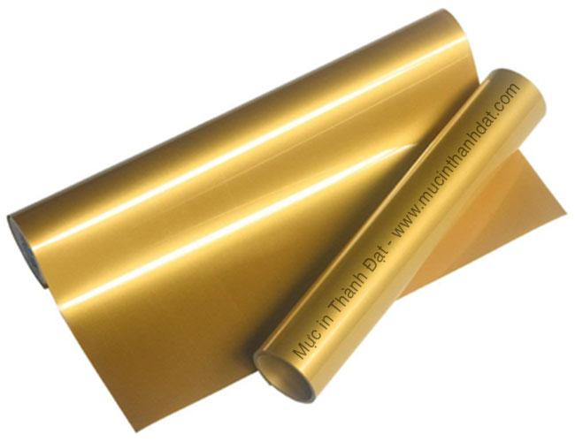 Decal PU Chuyển Nhiệt Màu Vàng Gold