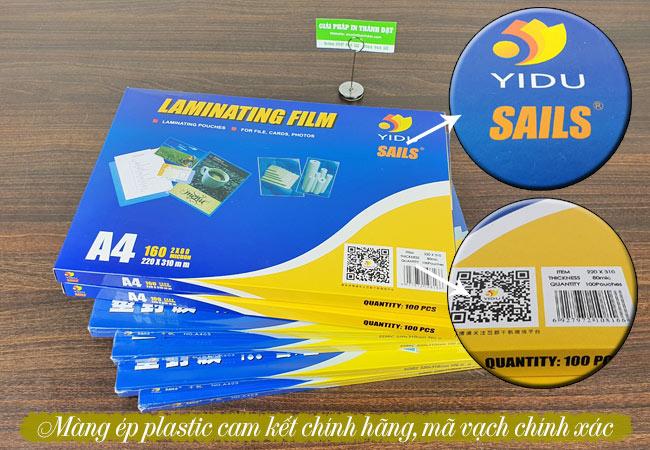 Giấy ép plastic A4 chính hãng YIDU