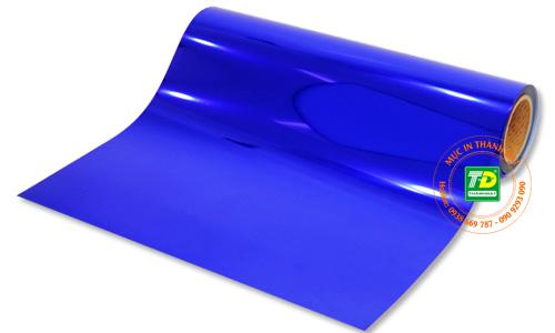 Decal nhiệt hiệu ứng kim loại màu xanh dương