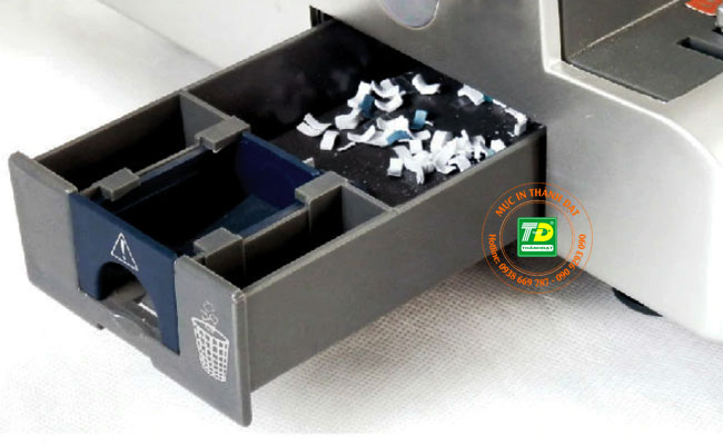 Máy đóng sách lò xo kẽm DSB WR-200E có khay đựng giấy vụn