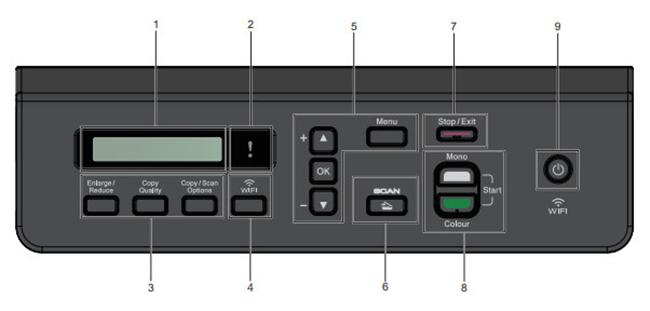 Bảng điều khiển Máy In Phun Màu Brother DCP - T710W
