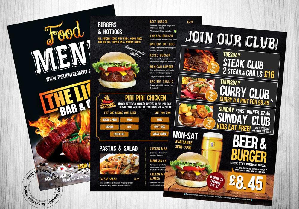 tìm chỗ in menu giá rẻ