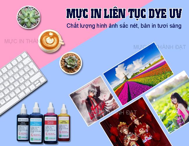 Mực dầu Dye UV Thành Đạt bền màu, khó phai