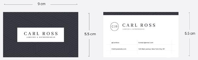 Kích thước chuẩn khi thiết kế name card