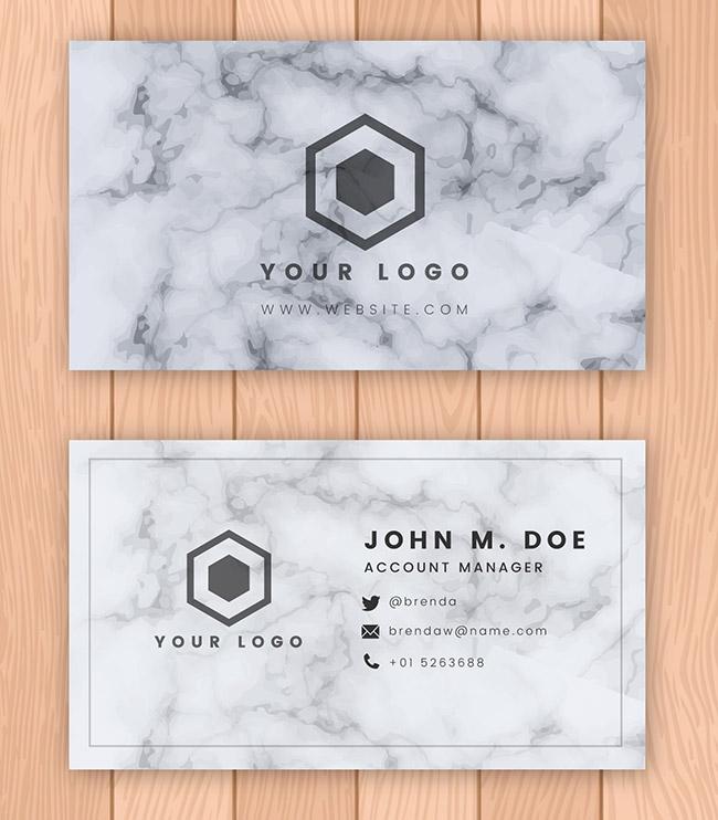 Kích thước cỡ chữ thiết kế namecard
